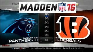 Madden NFL 16 Panthers vs Bengals Full Match Gameplay PS3 HD