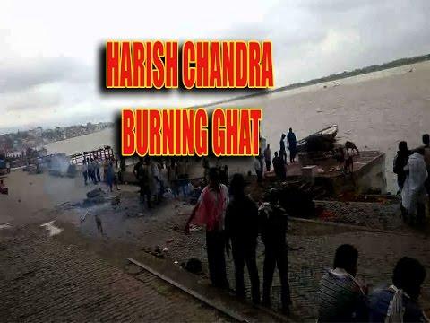 Walking in Varanasi ghat /raja harish chandra burning ghat in banaras