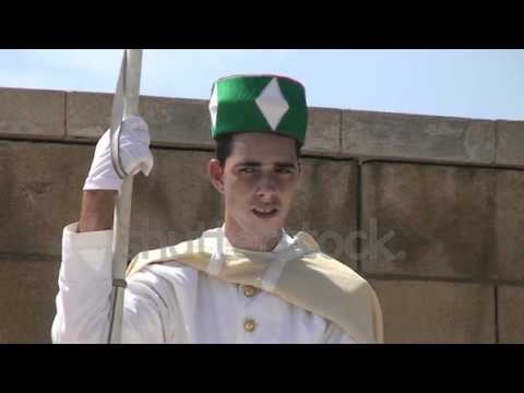 rabat-morocco-circa-march-a-guard-stands-outside-the-mausoleum-of-mohammed-v-circa-march.mp4