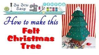 Sew A Felt Christmas Tree | Card Base | Pt 1