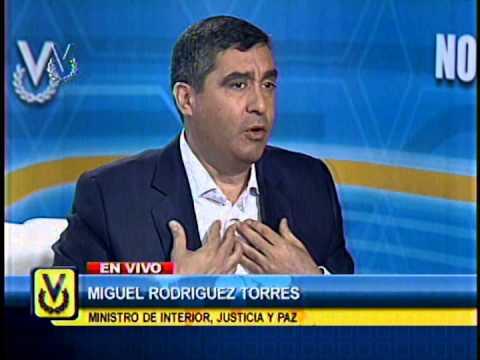 Entrevista Venevisión: Miguel Rodríguez Torres, ministro de Interior, Justicia y Paz