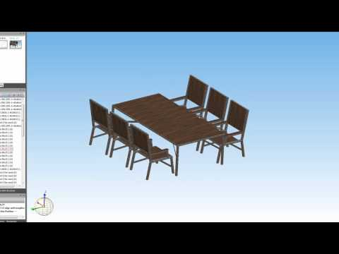 Tafel en stoelen CadDrawing