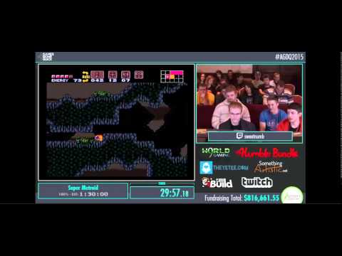 AGDQ 2015 - Super Metroid (Save The Animals)