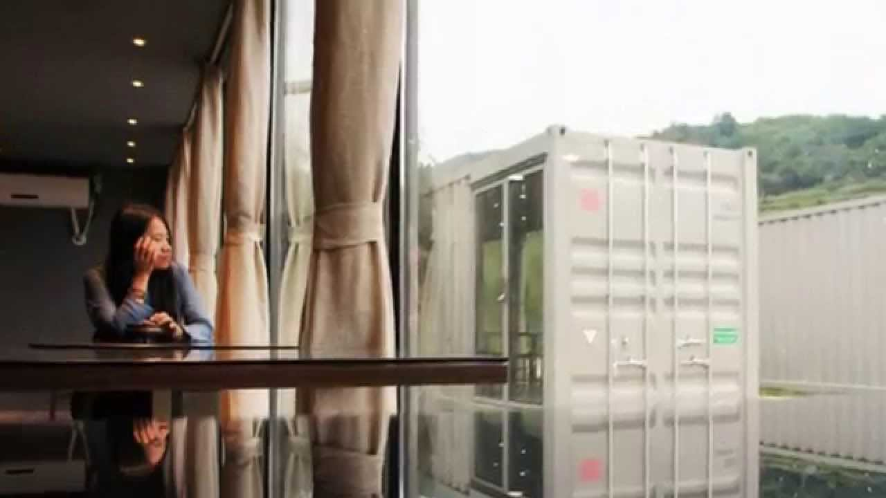 luxury shipping container hotel in china - youtube