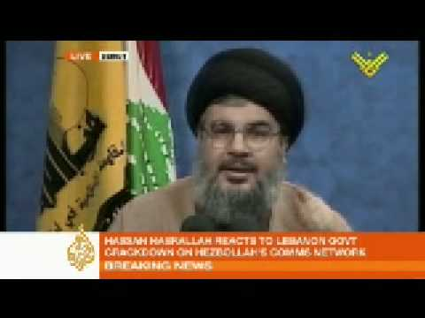 Nasrallah addresses Lebanon - 08 May 08