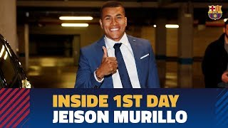 [BEHIND THE SCENES] Jeison Murillo's first day at Camp Nou
