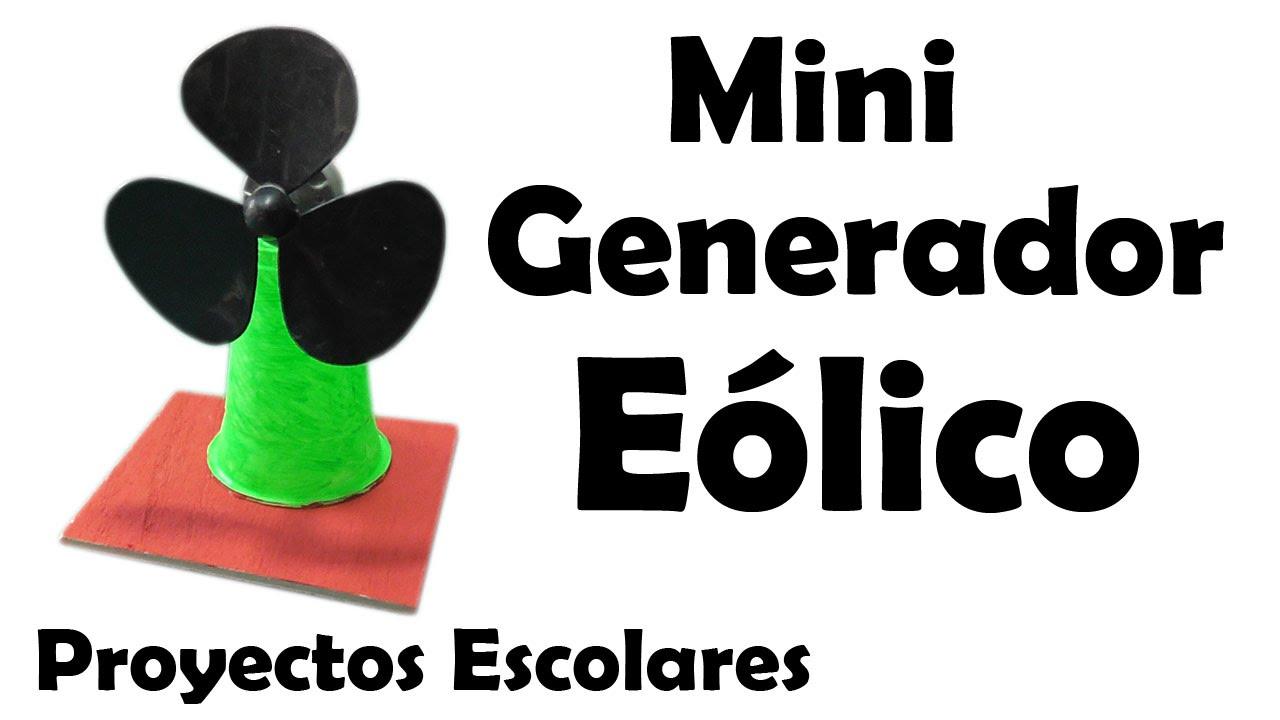 Proyectos escolares mini generador e lico casero muy - Generadores de electricidad ...