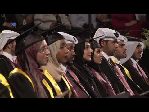 Texas A&M University at Qatar commencement 2016