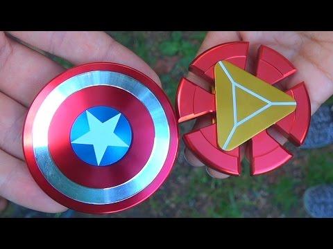 Captain America Shield Fidget Spinner VS Iron Man Fidget Spinner!!!