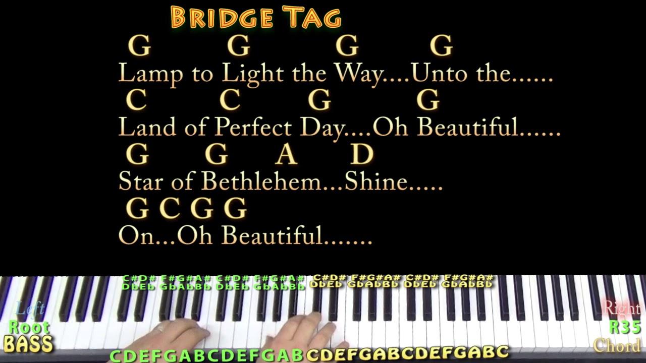 Beautiful Star Of Bethlehem Christmas Piano Jamtrack in G with  Chords/Lyrics