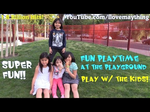 Kids' Playtime Channel: A Fun Family Trip to the Fire Truck Playground w/ Hulyan & Maya