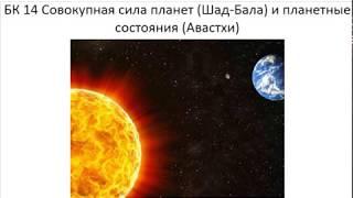 Астрология SSS1. БК Урок 14 Шад-бала и Авастхи (Тушкин)