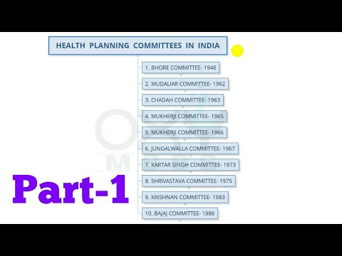 Health Planning Committees In India -1