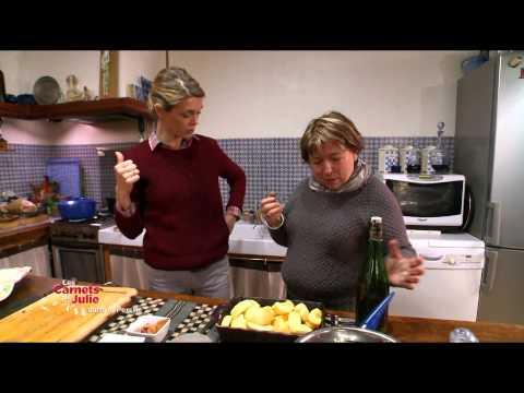 recette:-le-poulet-aux-pommes,-flambé-au-calvados-de-mireille---les-carnets-de-julie