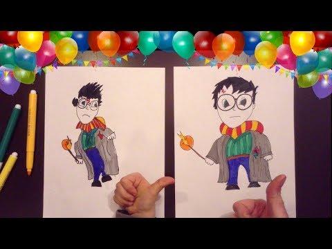 Disegno con bea harry potter con sorpresa finale disegni for Coniglio disegno per bambini
