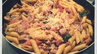 Penne Pasta With Mushroom And Ham Recipe