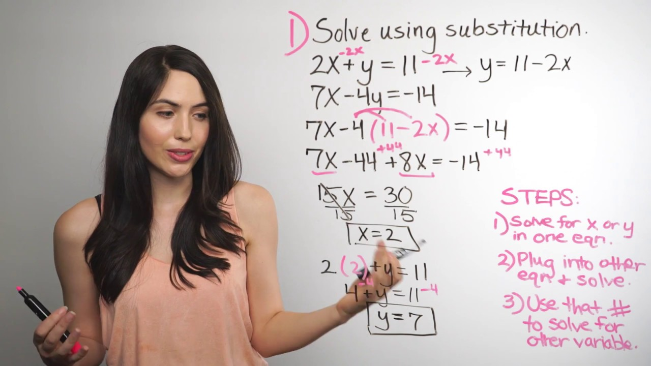 Solving Systems of Equations    Substitution Method (NancyPi)