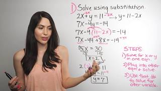 Solving Systems of Equations... Substitution Method (NancyPi) thumbnail