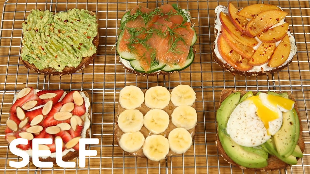 How To Make 6 Healthy Breakfast Toasts For Weight Loss Youtube