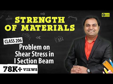 Problem on calculation of  Shear stress of I-Section.