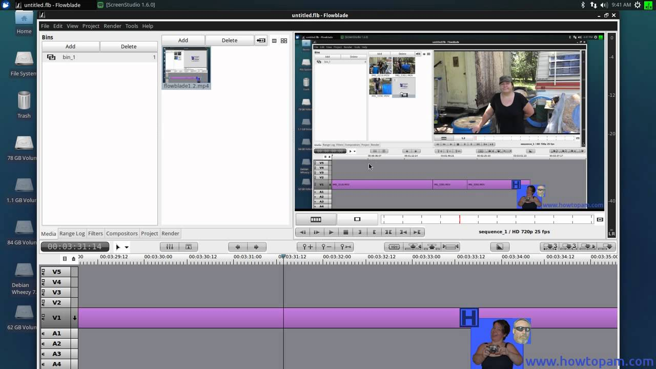 Flowblade how to cut grey frames out of your video - YouTube