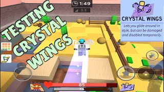 super bomb survival crystal wings Roblox Gameplay