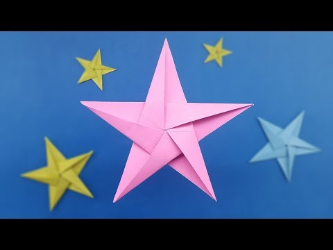 How to make Origami Star - Five Pointed Paper Star Instructions