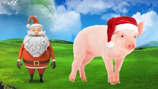 Learn Colors For Children With Colorful Animals and Santa Claus Merry Christmas Song For Kids