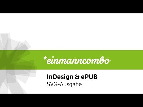 InDesign & ePUB: SVG Grafiken ausgeben