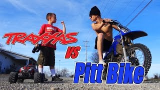 Traxxas RC VS Pit Bike Racing