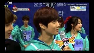 [HD][ESP SUB]130211 Idol Star Championship Team A Cut (Minho,EXO, Girls Day)