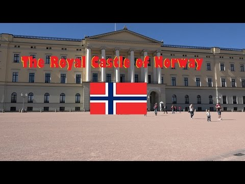 Royal Palace in Oslo, Norway. (4k)