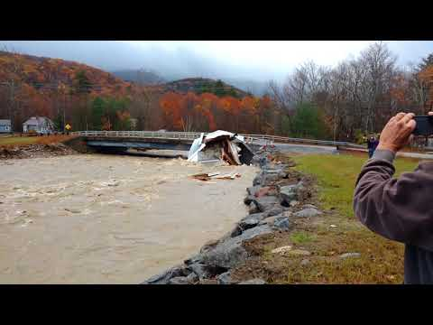 Severe New Hampshire Flooding Washes Whole House Down River