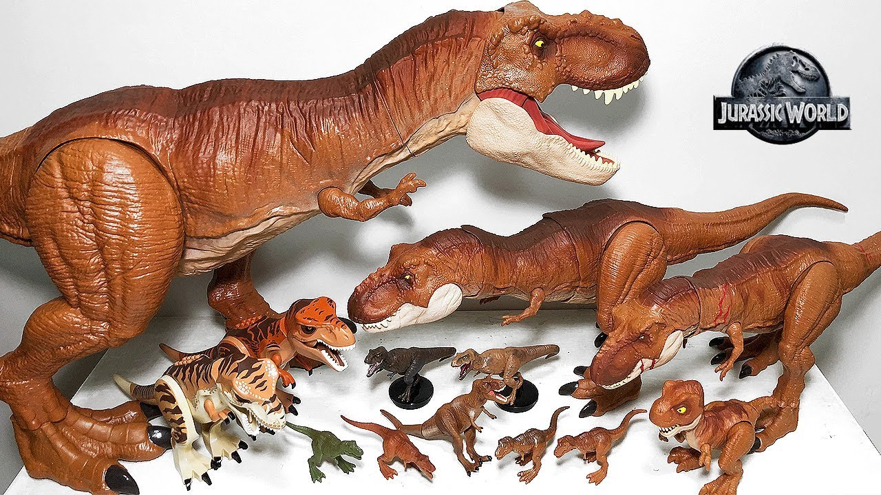 My T Rex Toys Collection Jurassic World Fallen Kingdom Dinosaur Toys Action Figures Youtube