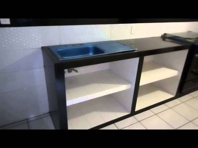Muebles De Cocina 100 Concreto Y Azulejo Youtube