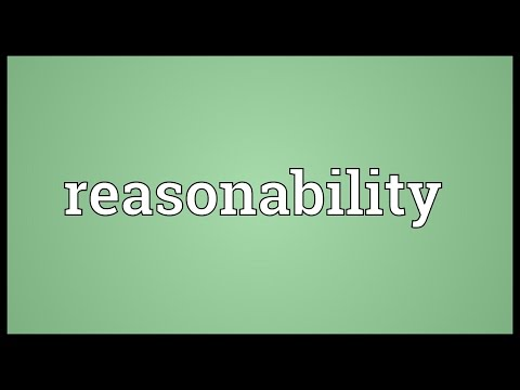Header of reasonability