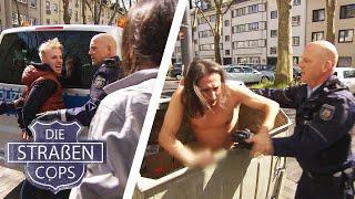 Warum wurde der Mann in die Mülltonne gesteckt? |Die Straßencops