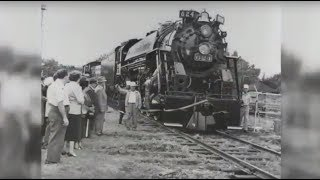 Historic Nickel Plate Road locomotive no. 624 moved from Hammond, Indiana