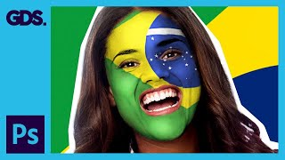 Paint your national flag face | Adobe Photoshop