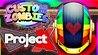 """Project X Rave Zombies?!?"" ~ CoD World at War Custom Modded Zombies Project X Map Solo Gameplay!"