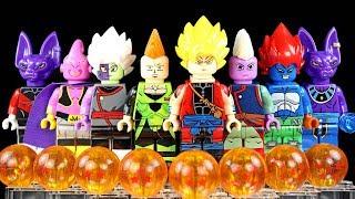 Dragon Ball Z Xeno Goku Zamasu Android 13 Beerus Majin Buu Kaiō-shin Unofficial LEGO Minifigures