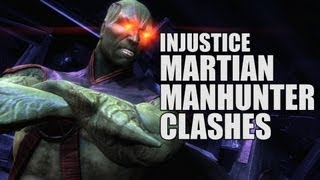 Injustice Gods Among Us: All Martian Manhunter Clash Battle Dialogues