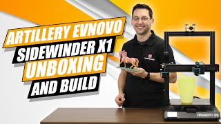 Artillery (Evnovo) Sidewinder X1 3D Printer Unboxing, Build, and Test