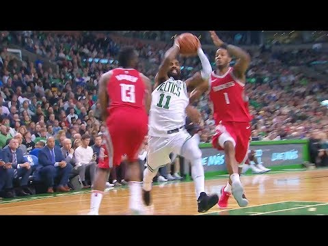 Kyrie Irving Embarrassing James Harden With Euro Step But James Harden Makes Impossible Layup