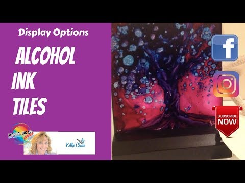 36.  Alcohol Ink Tile Display Options Frames and Boxes where to purchase