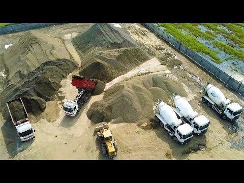 ADP New Yogyakarta International Airport Construction Batching Plant Proyek Bandara NYIA