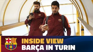 [BEHIND THE SCENES] Barça's day in Italy