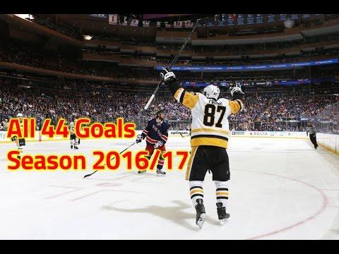 Sidney Crosby - All 44 goals from 2016/2017 NHL Season