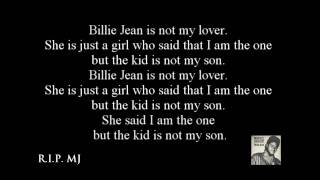 michael jackson billy jean lyrics