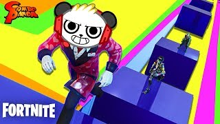 FORTNITE Geometry Parkour Creative Game ! Let's Play with Combo Panda